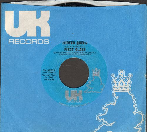 First Class - Surfer Queen/Funny How Love Can Be (with RARE UK company sleve) - M10/ - 45 rpm Records