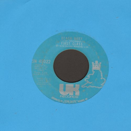 First Class - Beach Baby/Both Sides Of The Story - EX8/ - 45 rpm Records