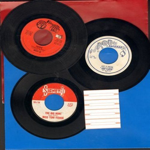 Clanton, Jimmy, Dickey Lee, Miss Toni Fisher - Dreamy 3-Pack: First pressing 45s, including Just A Dream, Laurie and The Big Hurt. Shipped in plain paper sleeves with 4 blank juke box labels. GREAT for a juke box! - EX8/ - 45 rpm Records