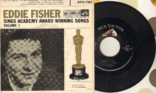 Fisher, Eddie - Academy Award Winning Songs Vol. 1: The Continental/Over The Rainbow/Thanks For The Memory/When You Wish Upon A Star + 3 (vinyl EP record with picture cover) - EX8/VG7 - 45 rpm Records