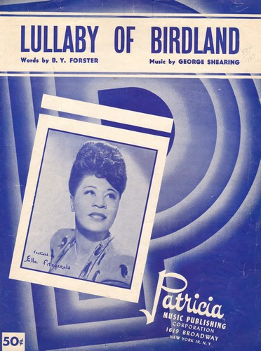 Fitzgerald, Ella - Lullabies Of Birdland - Vintage SHEET MUSIC for the Jazz Standard recorded by many artists including Ella Fitzgerald (pictured on cover!) - EX8/ - Sheet Music