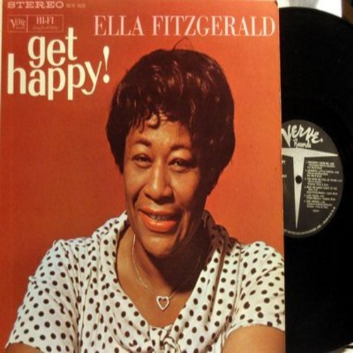 Fitzgerald, Ella - Get Happy!: Blue Skies, Goody Goody, St. Louis Blues, Somebody Loves Me, Cool Breeze (vinyl STEREO LP record) - NM9/NM9 - LP Records