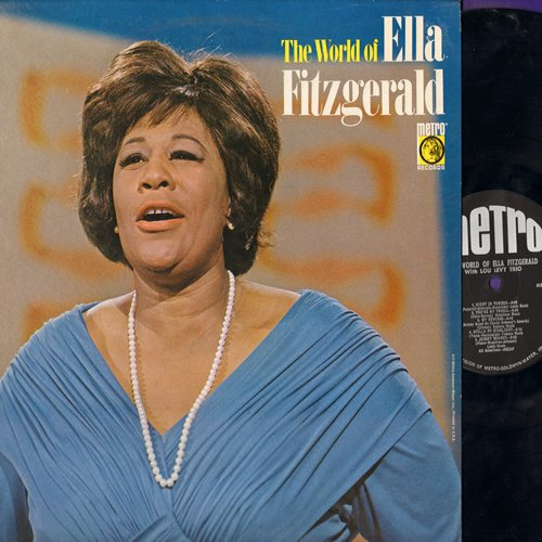 Fitzgerald, Ella - The World Of Ella Fitzgerald: Cry Me A River, Jersey Bounce, Stella By Starlight, Good Morning Heartache (vinyl MONO LP record) - NM9/NM9 - LP Records