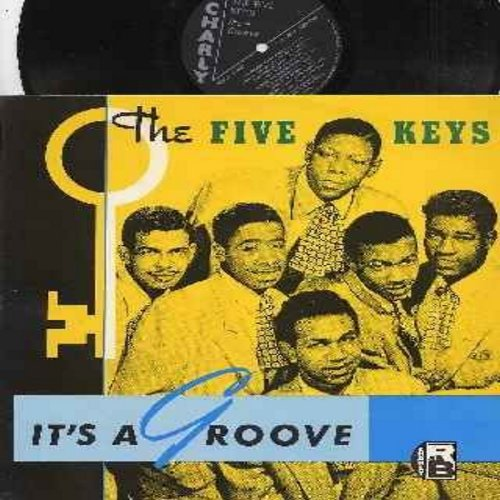 Five Keys - It's A Groove: Hucklebuck With Jimmy, The Glory Of Love, She's The Most, Out Of Sight Out Of Mind, Close Your Eyes (vinyl LP record, re-issue of vintage Doo-Wop recordings) - M10/M10 - LP Records
