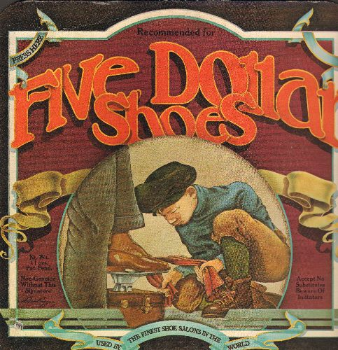 Five Dollar Shoes - Five Dollar Shoes: Love Song, Chemical Lover, Bad Dream, Let's Leave Town (vinyl STEREO LP record, gate-fold cover, small bb lower left cover) - NM9/EX8 - LP Records