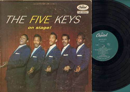 Five Keys - On Stage!: Just For A Thrill, Tiger Lily, Dream, Let There Be You, To Each His Own (vinyl MONO LP record) - VG6/G5 - LP Records