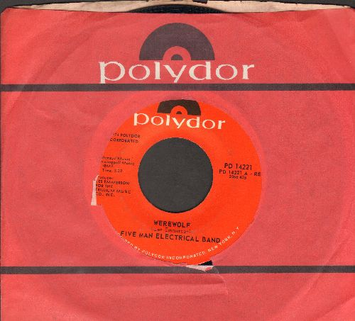 Five Man Electrical Band - Werewolf/Country Angel (with Polydor company sleeve) - NM9/ - 45 rpm Records