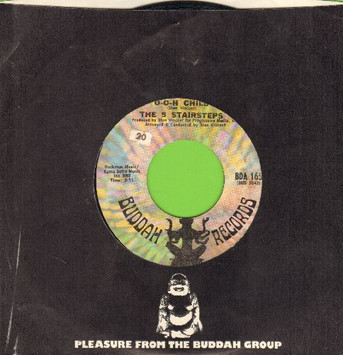 Five Stairsteps - Ooh Child/Who Do You Belong To (with Buddah company sleeve) - EX8/ - 45 rpm Records