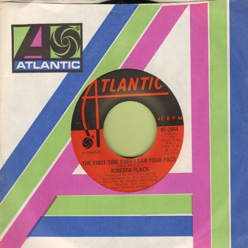 Flack, Roberta - The First Time Ever I Saw Your Face/Trade Winds  - VG7/ - 45 rpm Records