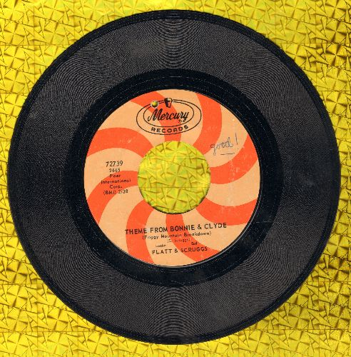 Flatt & Scruggs - Theme From Bonnie & Clyde/My Cabin In Caroline (bb) - EX8/ - 45 rpm Records