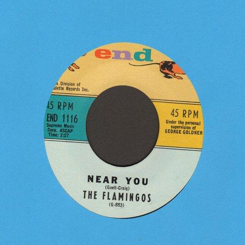 Flamingos - Near You/For All We Know  - EX8/ - 45 rpm Records