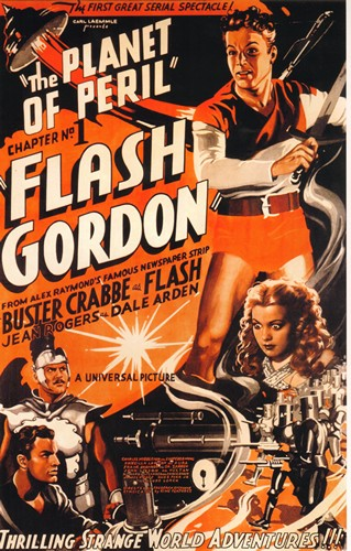 The Planet Of Peril - The Planet Of Peril (Flash Gordon Series Chapter No 1, 1936) - Classic Movie Poster. 12 X 16 inch full-color reproduction on heavy card board, suitable for framing!  - M10/ - Poster
