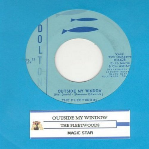Fleetwoods - Outside My Window/Magic Star - VG6/ - 45 rpm Records