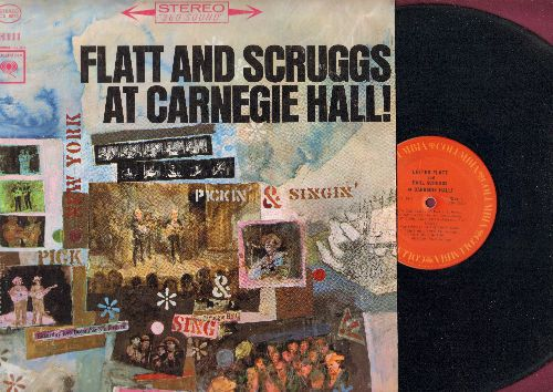 Flatt & Scruggs - At Carnedie Hall: Salty Dog Blues, Footprints In The Snow, Fiddle And Banjo, Flint Hill Special (vinyl STEREO LP record) - EX8/EX8 - LP Records