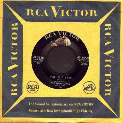 Twin-Tones - The Flip Skip/My Dear (with vintage RCA company sleeve) - EX8/ - 45 rpm Records
