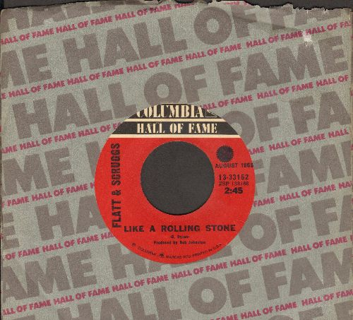 Flatt & Scruggs - Like A Rolling Stone/Foggy Mountain Breakdown (double-hit re-issue with Columbia company sleeve) - EX8/ - 45 rpm Records