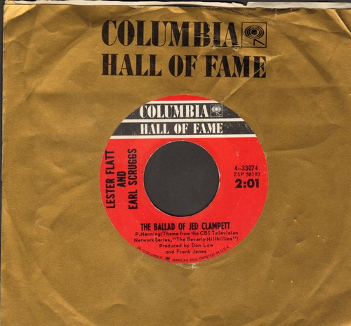 Flatt & Scruggs - The Ballad Of Jed Clampett (Beverly Hillbillies Theme)/Go Home (re-issue with Columbia company sleeve) - EX8/ - 45 rpm Records