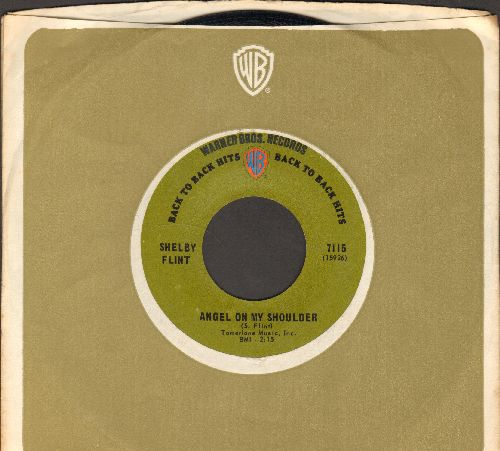 Flint, Shelby - Angel On My Shoulder/Cast Your Fate To The Wind (early re-issue with Warner Brothrs company sleeve) - NM9/ - 45 rpm Records