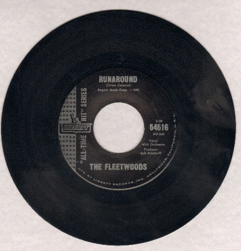 Fleetwoods - Runaround/Confidential (early double-hit re-issue) (sol) - NM9/ - 45 rpm Records