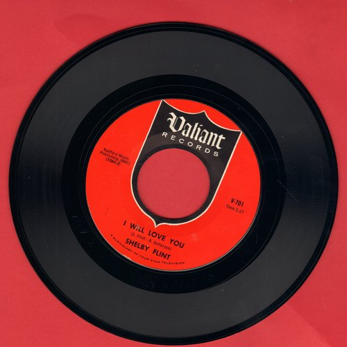 Flint, Shelby - I Will Love You/Angel On My Shoulder (early double-hit re-issue) - NM9/ - 45 rpm Records