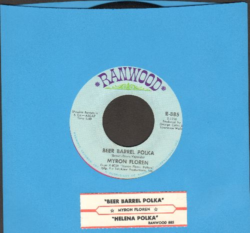 Floren, Myron - Beer Barrel Polka/Helena Polka (with juke box label) - EX8/ - 45 rpm Records
