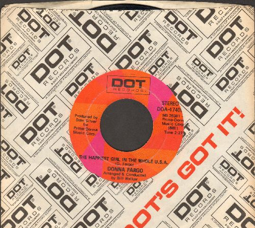 Fargo, Donna - The Happiest Girl In The Whole U.S.A./The Awareness Of Nothing (with Dot company sleeve) - EX8/ - 45 rpm Records