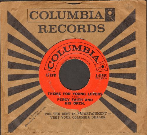Faith, Percy & His Orchestra - Theme For Young Lovers/Bimini Goombay (with Columbia company sleeve) - EX8/ - 45 rpm Records