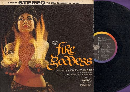Edwards, Webley - Fire Goddess: Canoe Song, Knife Dance, Beaty Hula, The Old Church (vinyl STEREO LP record, 1958 first pressing) - EX8/EX8 - LP Records