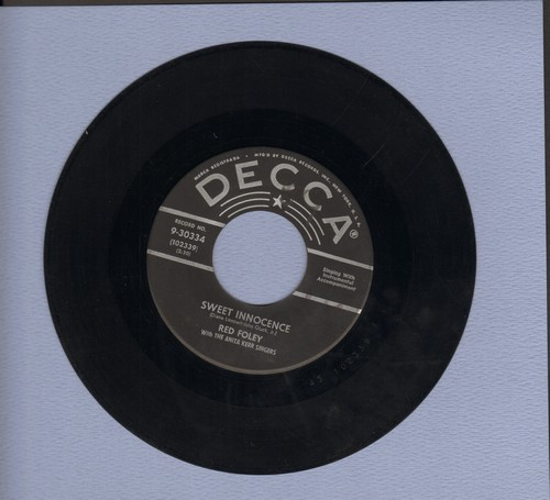 Foley, Red - Why Ask For The Moon/Sweet Innocence (black star label/silver lines first pressing) - VG7/ - 45 rpm Records