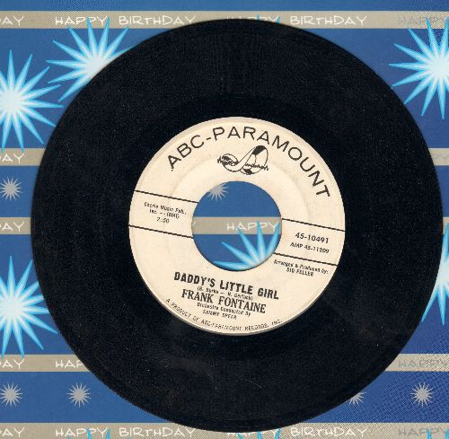 Fontaine, Frank - Daddy's Little Girl (Wedding Reception Favorite for Father/Daughter Dance!)/Oh How I Miss You Tonight (DJ advance pressing) - EX8/ - 45 rpm Records