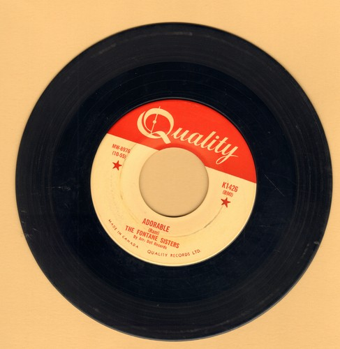 Fontane Sisters - Adorable/Daddy-0  - EX8/ - 45 rpm Records