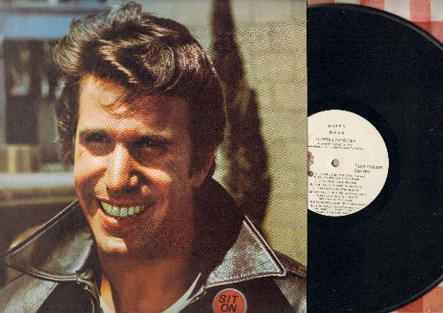 Fonzie Favorites - Happy Days Fonzie Favorites: Happy Days Theme, Charlie rown, Splish Splash, The Fonz Song, You Talk Too Much (vinyl LP record with portrait-pop-up in back still in place!) - VG6/VG6 - LP Records