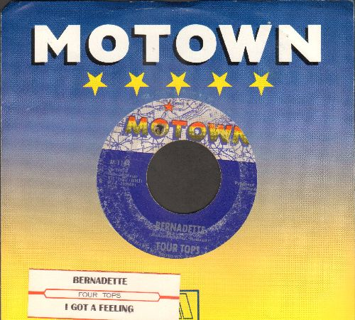 Four Tops - Bernadette/I Got A Feeling (with Motown company sleeve and juke box label)(bb) - VG7/ - 45 rpm Records