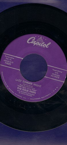 Four Preps - Lazy Summer Night/Summertime Lies  - EX8/ - 45 rpm Records