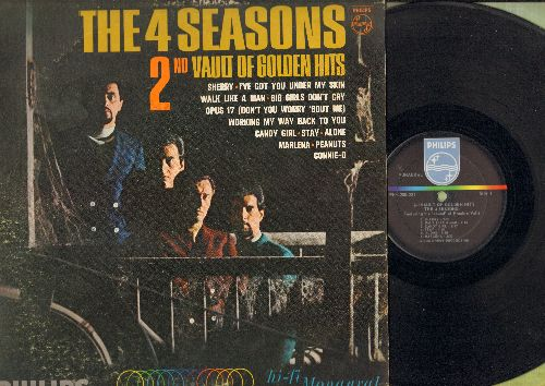 Four Seasons - 2nd Vault Of Golden Hits: Sherry, Walk Like A Man, Big Girls Don't Cry, Stay, Alone, Peanuts (vinyl MONO LP record) - EX8/EX8 - LP Records