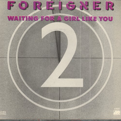 Foreigner - Waiting For A Girl Like You/I'm Gonna Win (with picture sleeve) - EX8/VG7 - 45 rpm Records