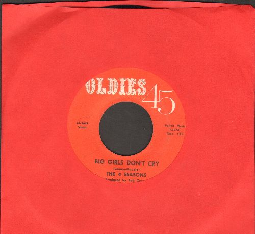 Four Seasons - Big Girls Don't Cry/Connie-O (early re-issue) - VG6/ - 45 rpm Records