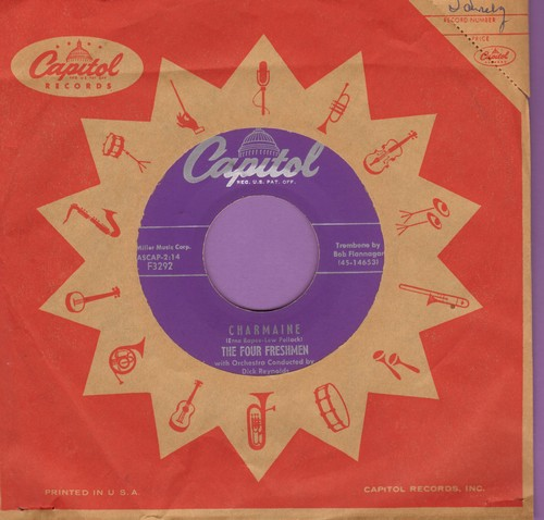 Four Freshmen - Charmaine/In This Whole Wide World (with Capitol company sleeve) - EX8/ - 45 rpm Records