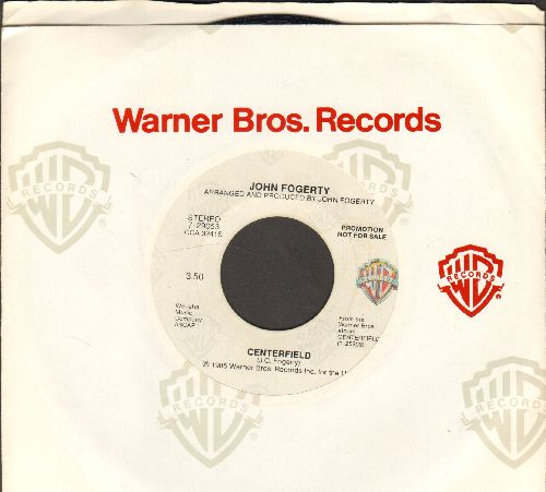 Fogerty, John - Centerfield (double-A-sided DJ advance pressing with Warner Brothers company sleeve) - NM9/ - 45 rpm Records