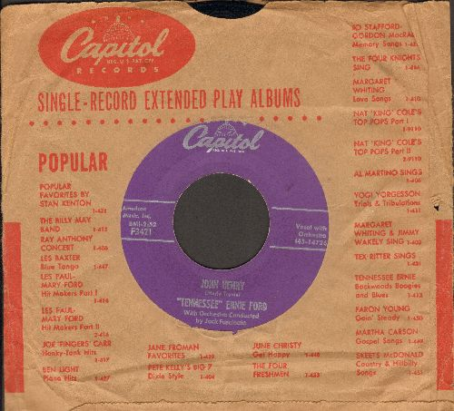 Ford, Tennessee Ernie - John Henry/The Rovin' Gambler (with Capitol company sleeve) - EX8/ - 45 rpm Records