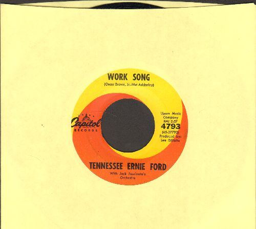 Ford, Tennessee Ernie - Work Song/Rags And Old Iron - EX8/ - 45 rpm Records