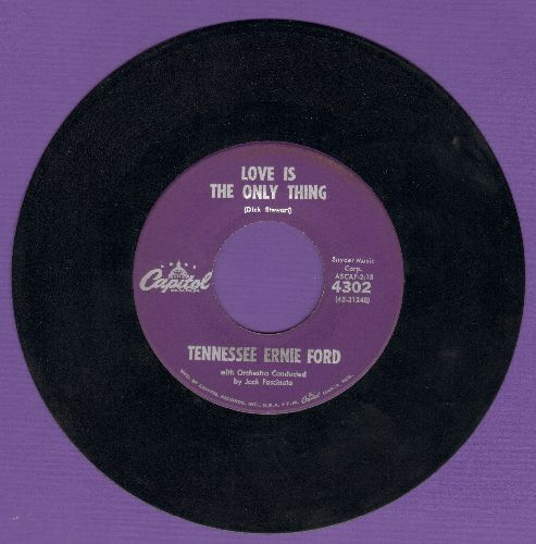 Ford, Tennessee Ernie - Love Is The Only Thing/Sunny Side Of Heaven (purple label first issue) - EX8/ - 45 rpm Records