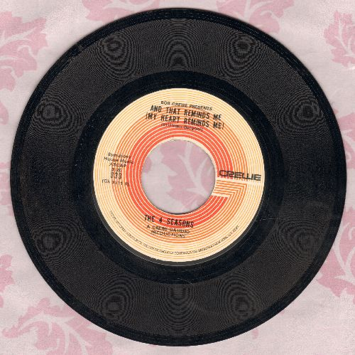 Four Seasons - And That Reminds Me (My Heart Reminds Me)/The Singles Game  - VG7/ - 45 rpm Records
