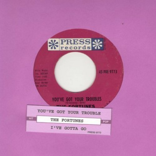 Fortunes - You've Got Your Troubles (I've Got Mine)/I've Gotta Go (with juke box label) - NM9/ - 45 rpm Records