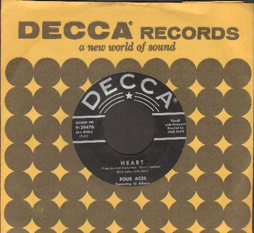 Four Aces - Heart/Sluefoot (with vintage Decca company sleeve) - EX8/ - 45 rpm Records