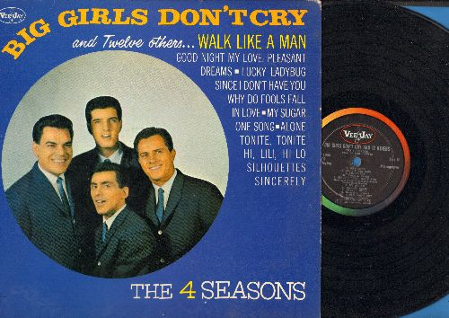 Four Seasons - Big Girls Don't Cry and Twelve others…Walk Like A Man, Why Do Fools Fall In Love, Sincerely, Hi-Lili Hi-Lo, Alone, Lucky Ladybug (vinyl MONO LP record) - EX8/EX8 - LP Records
