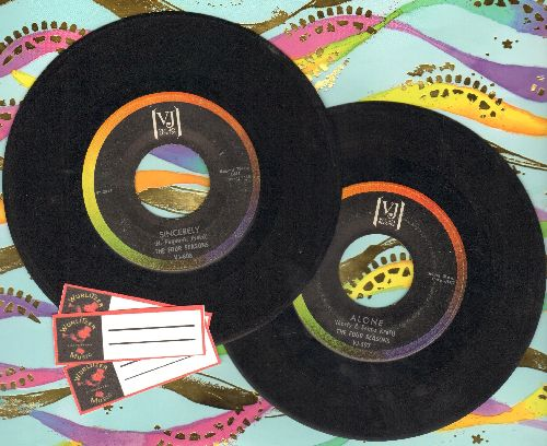 Four Seasons - 2 for 1 Special: Alone/Sincerely (2 vintage first issue 45rpm records for the price of 1!) - VG7/ - 45 rpm Records