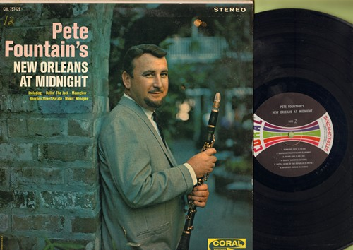 Fountain, Pete - New Orleans At Midnight: Ballin' The Jack, Makin' Whoopee, Bourbon Street Parade, I Want To Be Happy, Brahms' Lullaby (vinyl STEREO LP record) - EX8/EX8 - LP Records