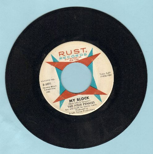 Four Pennies - My Block/Dry Your Eyes - EX8/ - 45 rpm Records