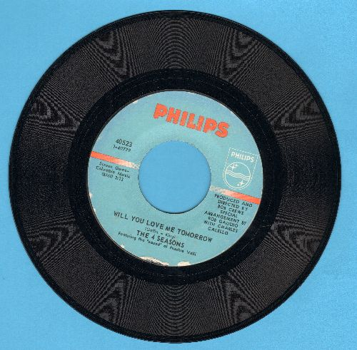 Four Seasons - Will You Love Me Tomorrow/Around And Around (bb) - NM9/ - 45 rpm Records